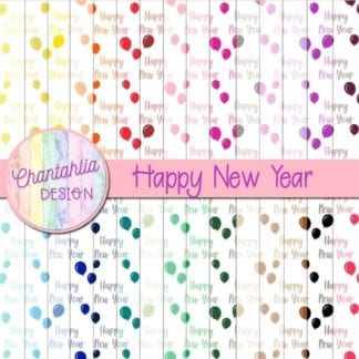 Free happy new year digital papers