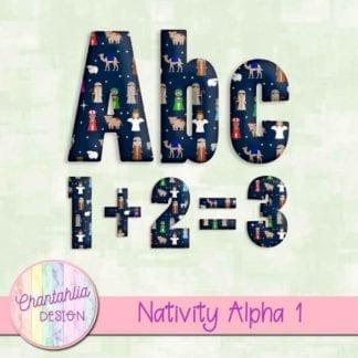 alpha in a Christmas Nativity theme