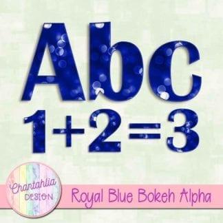 royal blue bokeh alpha