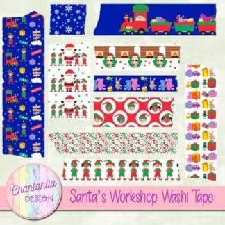 free santa's workshop scrapbook washi tape