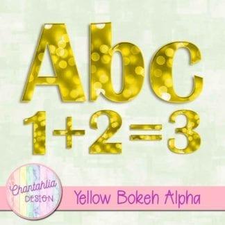 yellow bokeh alpha