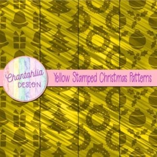 yellow stamped christmas patterns
