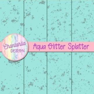 glitter splatter digital papers