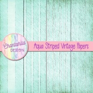 free aqua striped vintage papers