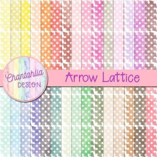 Free digital papers with an arrow lattice design
