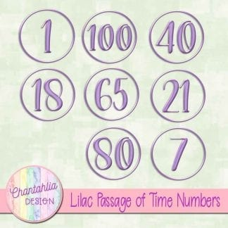 Free numbers to match the Passage of Time theme