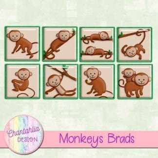 Free brads in a Monkeys theme.