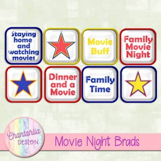 free digital brads with movie night theme