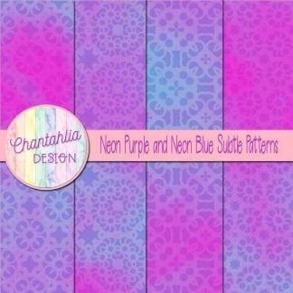 neon purple and neon blue subtle patterns