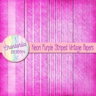 free neon purple striped vintage papers