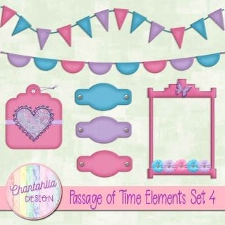 Free design elements in a Passage of Time theme