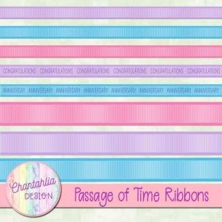 Free digital ribbons in a Passage of Time theme