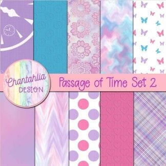 Free digital papers in a Passage of Time theme