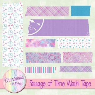 Free washi tape in a Passage of Time theme