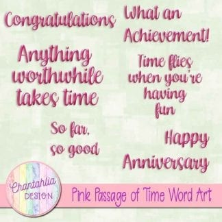 Free word art to match the Passage of Time theme.