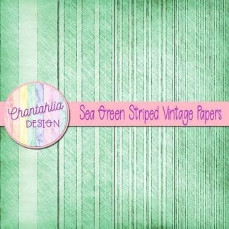 free sea green striped vintage papers
