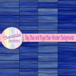 sky blue and royal blue wooden backgrounds
