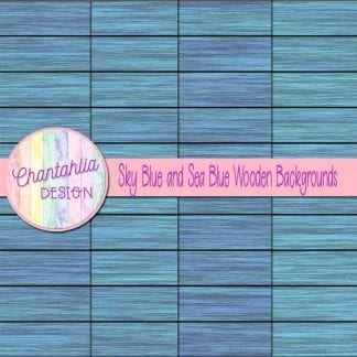 sky blue and sea blue wooden backgrounds