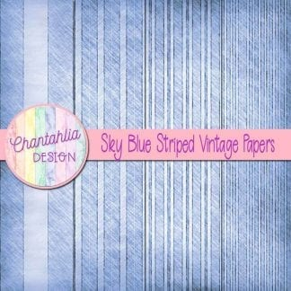free sky blue striped vintage papers