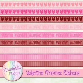 valentine gnomes ribbons