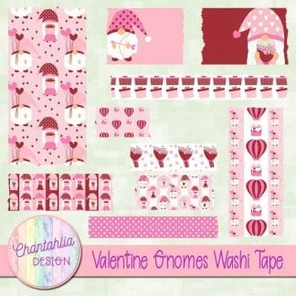 valentine gnomes washi tape
