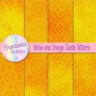 yellow and orange subtle patterns