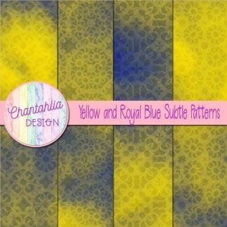 yellow and royal blue subtle patterns