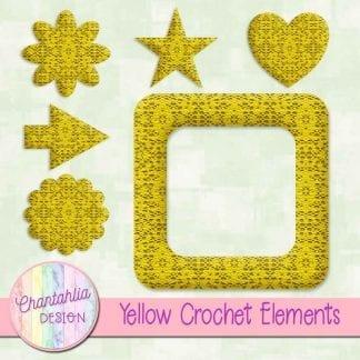 Free crochet elements / embellishments.