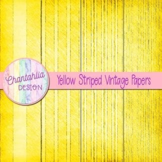 Free yellow striped vintage papers