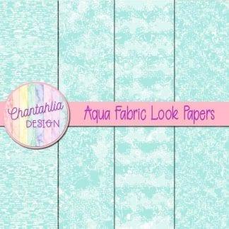 aqua fabric look papers