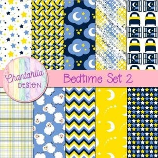 Free digital papers in a Bedtime theme.