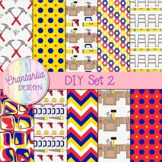 free digital papers in a diy theme