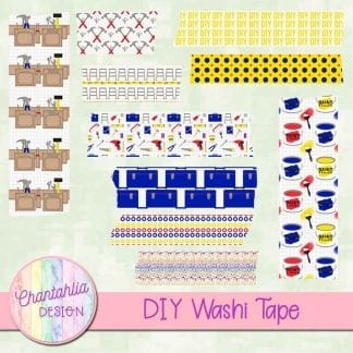 free digital washi tape in a diy design