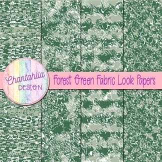 forest green fabric look papers
