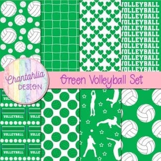 free green volleyball digital papers