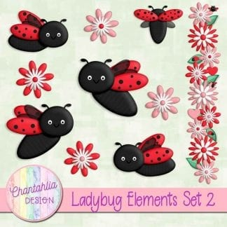 free ladybug design elements