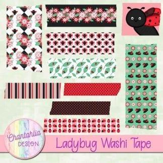 digital ladybug washi tape