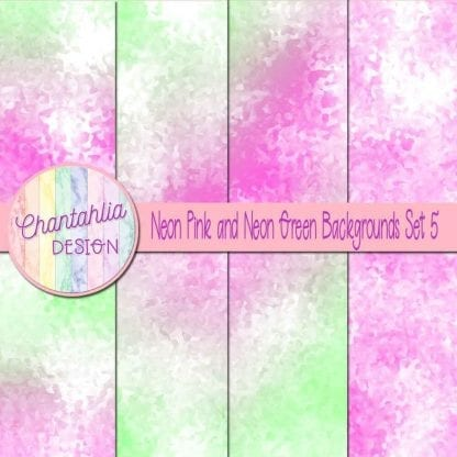 neon pink and neon green digital paper backgrounds