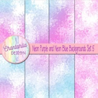 neon purple and neon blue digital paper backgrounds