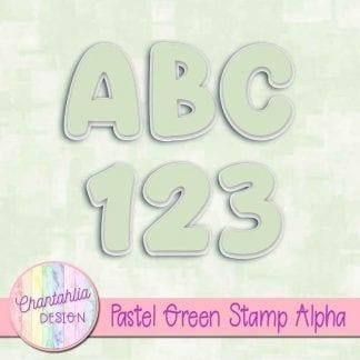 pastel green stamp alpha