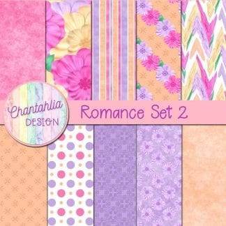 romance digital papers