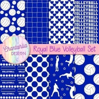 blue volleyball digital papers