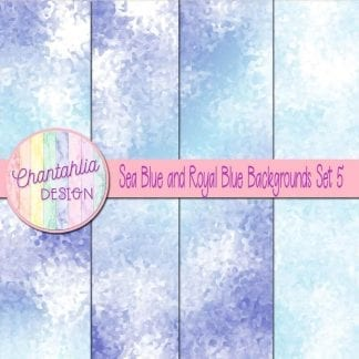 sea blue and royal blue digital paper backgrounds