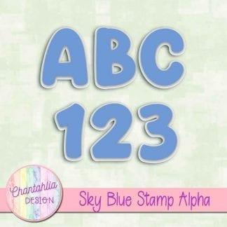 sky blue stamp alpha