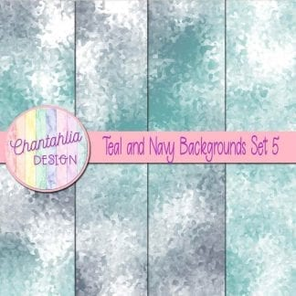 teal and navy digital paper backgrounds