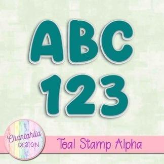teal stamp alpha