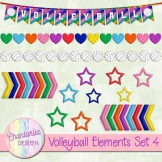free volleyball design elements