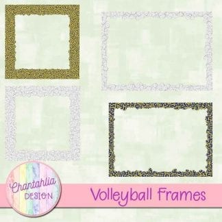 Free digital frames in a volleyball theme