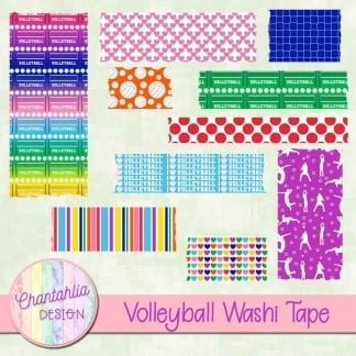 free volleyball washi tape