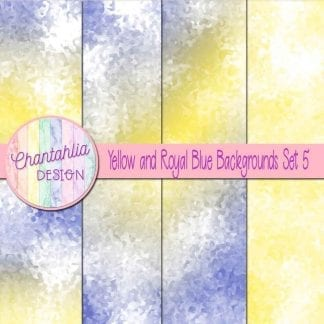 yellow and royal blue digital paper backgrounds